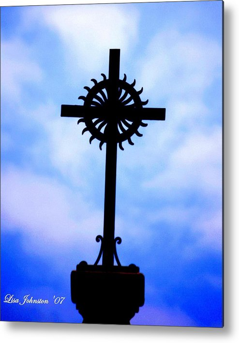 Cross Metal Print featuring the photograph Holy Cross Catholic Church by Lisa Johnston