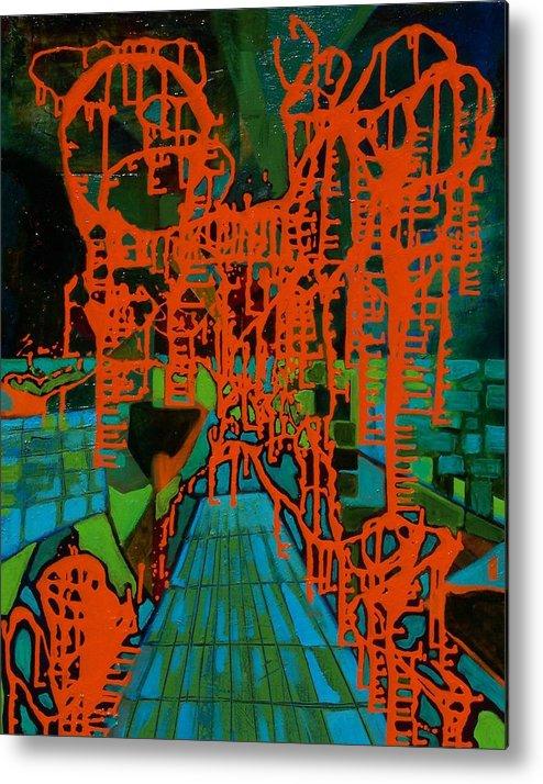 Lanscape Metal Print featuring the print Orange Palas by Meltem Quinlan