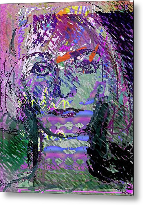Expression Metal Print featuring the mixed media Susazan by Noredin Morgan