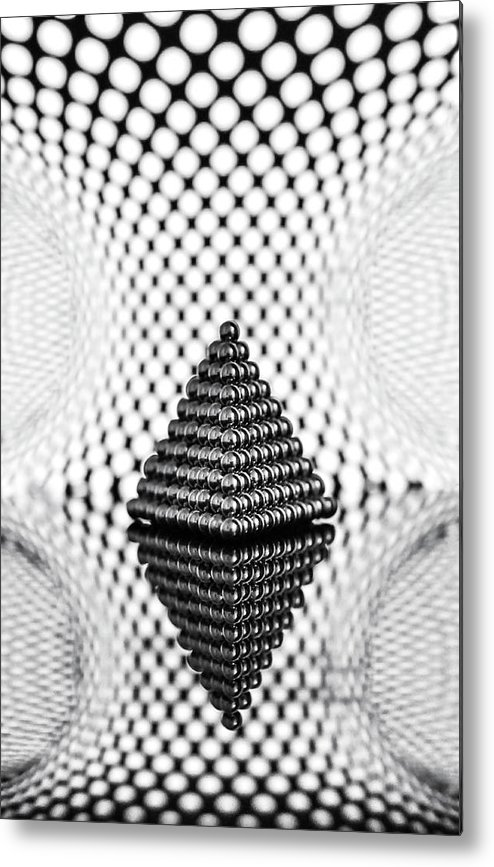 Pyramid Metal Print featuring the photograph Abstract Geometry by Ivelina Blagoeva