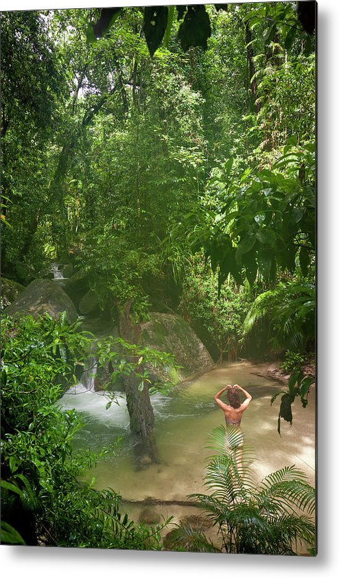 Scenics Metal Print featuring the photograph Mossman Gorge Daintree National Park by Peter Adams