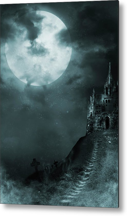 Gothic Style Metal Print featuring the photograph Old Castle by Vladgans