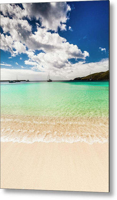 Tropical Tree Metal Print featuring the photograph Caribbean Beach by Guvendemir