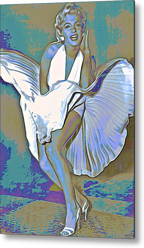 Fli Metal Print featuring the painting Marilyn Monroe by Fli Art