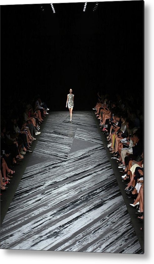 Fashion Model Metal Print featuring the photograph Mercedes-benz Fashion Week Spring 2015 by Neilson Barnard