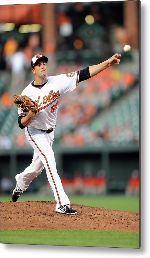 T.j. Mcfarland Metal Print featuring the photograph Texas Rangers V Baltimore Orioles by Greg Fiume