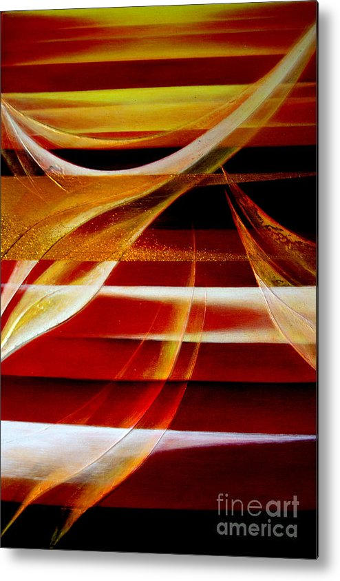 Abstract Metal Print featuring the painting Departure by Kumiko Mayer