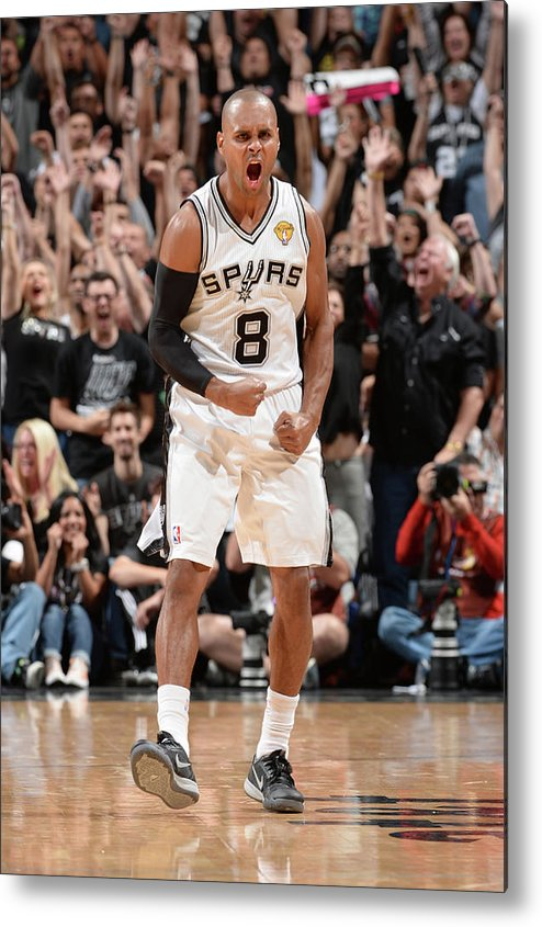 Playoffs Metal Print featuring the photograph Miami Heat V San Antonio Spurs - 2014 by Andrew D. Bernstein