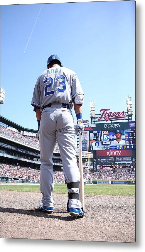 American League Baseball Metal Print featuring the photograph Kansas City Royals V Detroit Tigers by Leon Halip