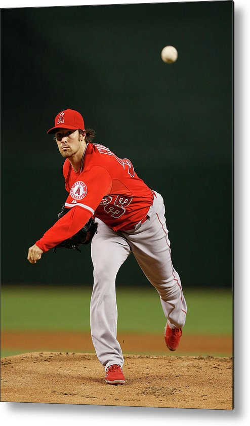 People Metal Print featuring the photograph Los Angeles Angels Of Anaheim V Arizona by Christian Petersen