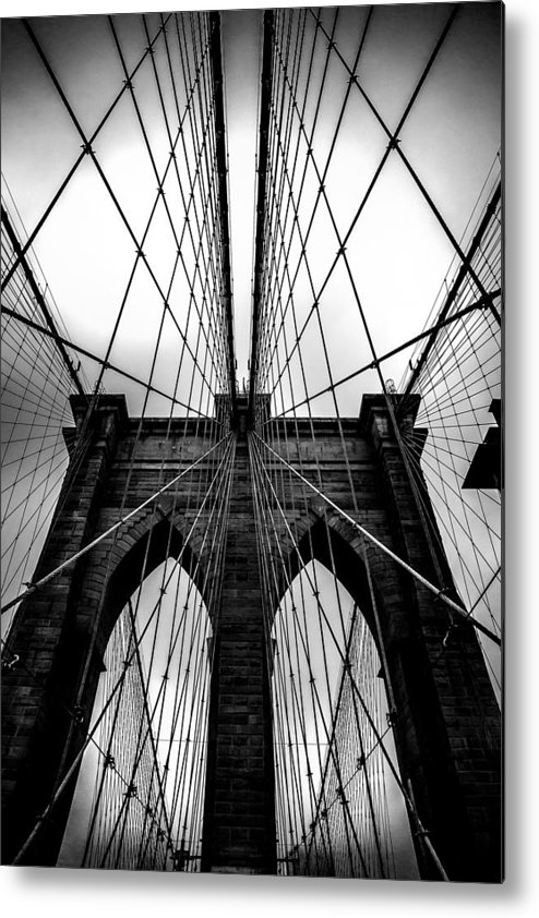 Brooklyn Bridge Arches Metal Print featuring the photograph A Brooklyn Perspective by Az Jackson