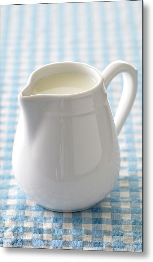Single Object Metal Print featuring the photograph A Jug Of Cream by Riou