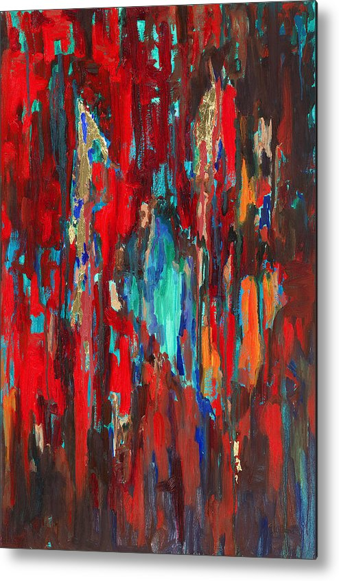 Abstract Art Metal Print featuring the painting A New Beginning by Billie Colson