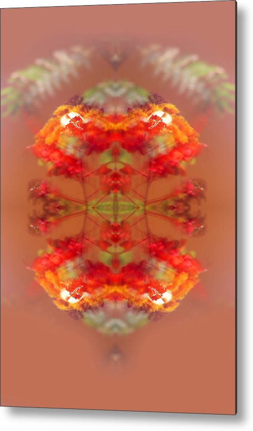 Abstract Metal Print featuring the digital art Abstract Lantern by Linda Phelps