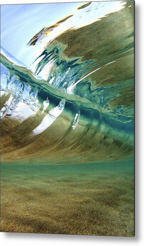 Abstract Metal Print featuring the photograph Abstract Underwater 2 by Vince Cavataio - Printscapes