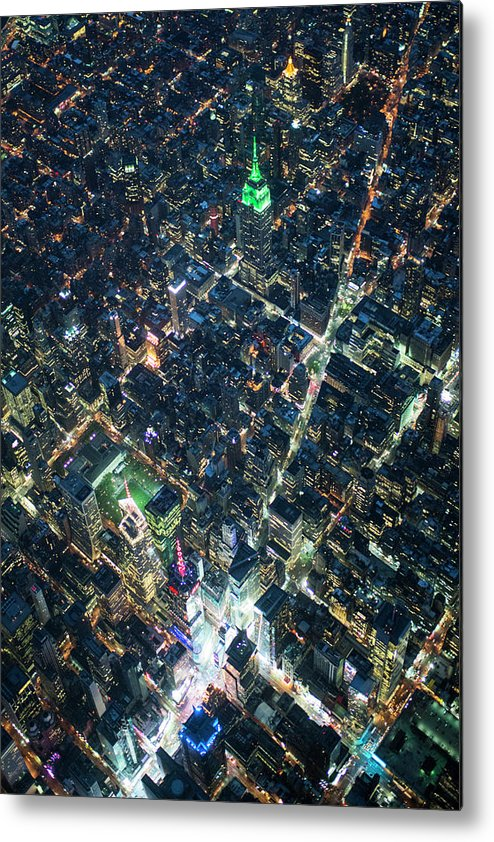 Outdoors Metal Print featuring the photograph Aerial Photography Of Bloadway In Dusk by Michael H
