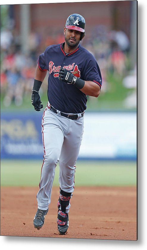 Individual Event Metal Print featuring the photograph Atlanta Braves V New York Mets by Joel Auerbach