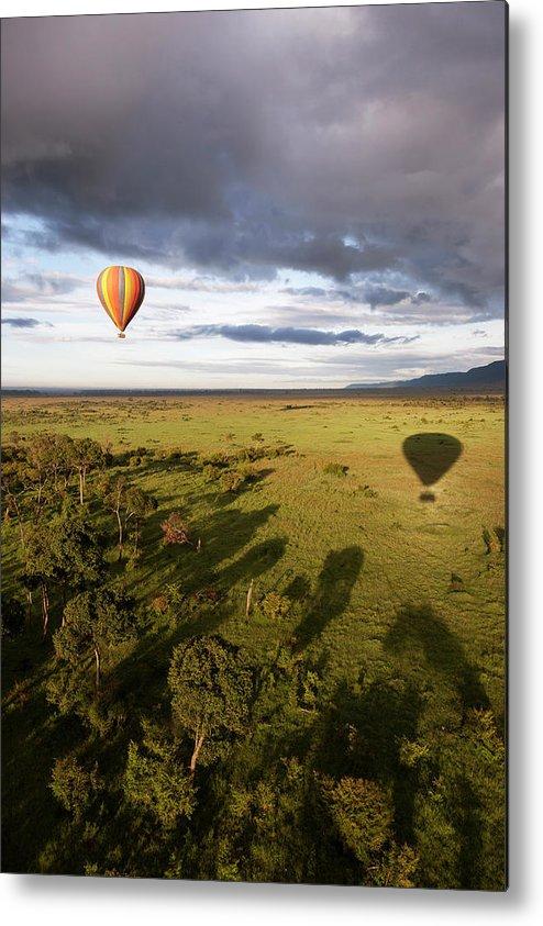 Kenya Metal Print featuring the photograph Balloon In Masai Mara National Park by Luis Davilla