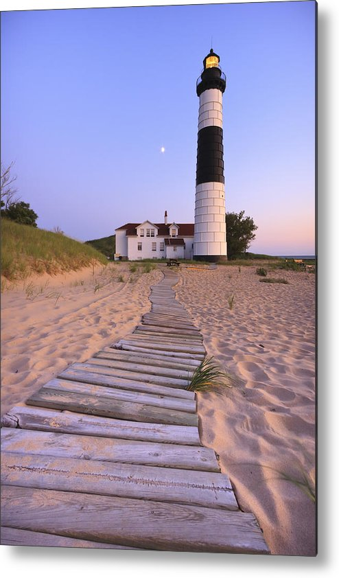 3scape Photos Metal Print featuring the photograph Big Sable Point Lighthouse by Adam Romanowicz