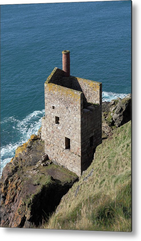Tin Metal Print featuring the photograph Botallack Tin Mine St Just, Cornwall by Anthony Collins