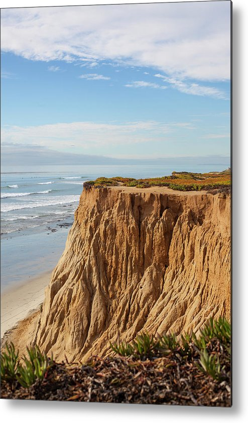 Water's Edge Metal Print featuring the photograph California Coast by Bill Oxford