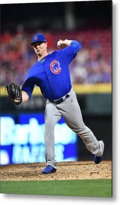 Great American Ball Park Metal Print featuring the photograph Chicago Cubs v Cincinnati Reds by Jamie Sabau
