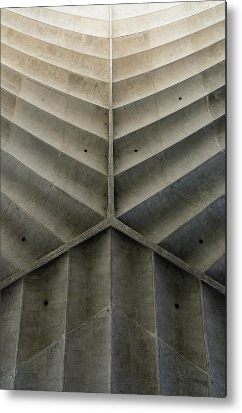 Shadow Metal Print featuring the photograph Concrete Fishbone Or Leaf Design by Olrat