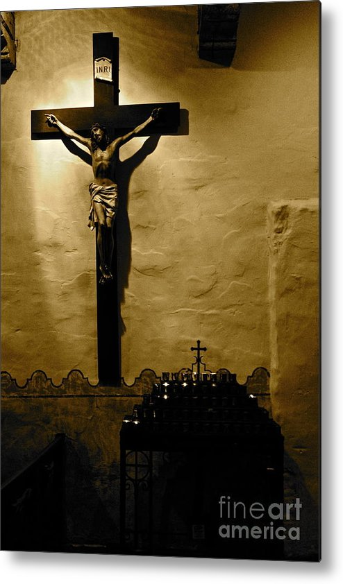 Christ Metal Print featuring the photograph Crucifixion by Lori Leigh