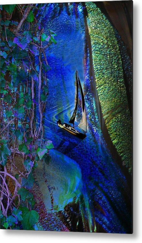 Dark River Metal Print featuring the digital art Dark River by Lisa Yount