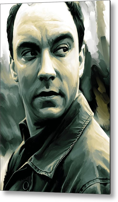 Dave Matthews Paintings Metal Print featuring the painting Dave Matthews Artwork by Sheraz A