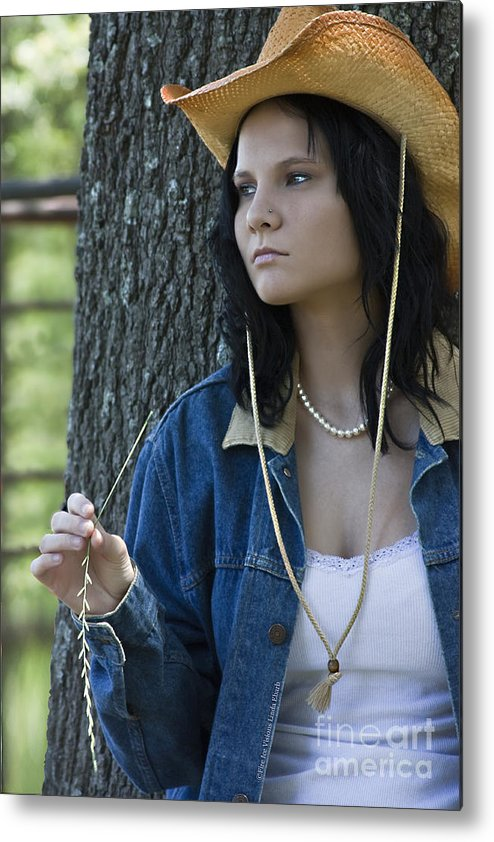 Cowgirl Metal Print featuring the photograph Deep Thought by Linda Ebarb