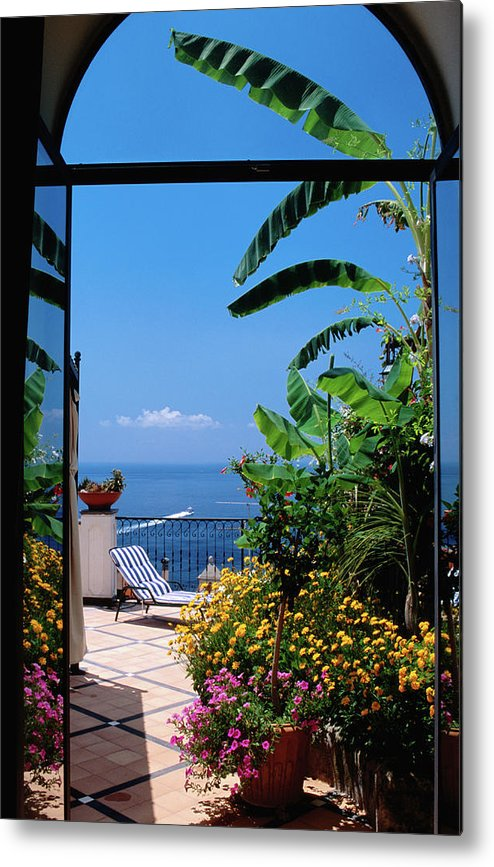 Tranquility Metal Print featuring the photograph Doorway To Terrace At Hotel Punta by Dallas Stribley