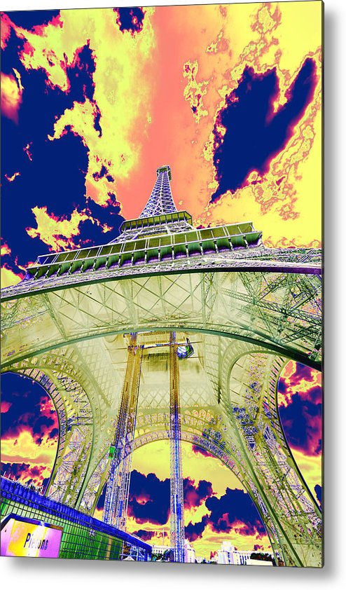 Cruise 2013 Metal Print featuring the photograph Eiffel Tower Psycho Version by Richard Henne