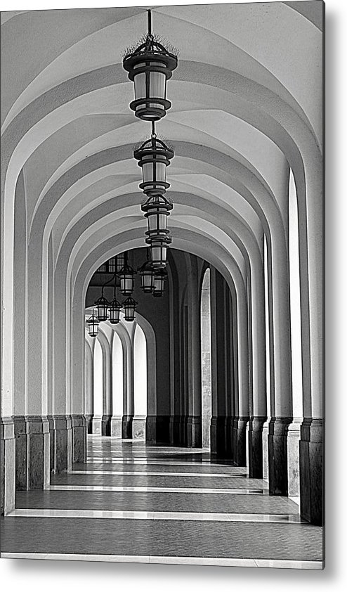 Arch Metal Print featuring the photograph Empty Road by Getty Contibu