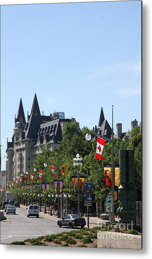 Chateau Laurier Metal Print featuring the photograph Fairmont Chateau Laurier I - Ottawa by Christiane Schulze Art And Photography