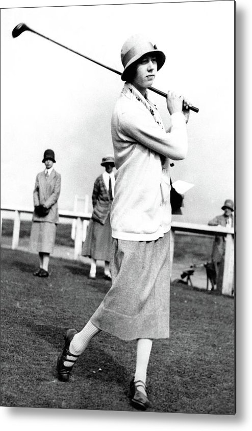 Entertainment Metal Print featuring the photograph Golfer Joyce Wethered by Photo-Illustration Company