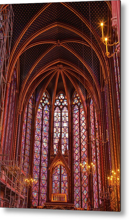 Gothic Style Metal Print featuring the photograph Gothic Architecture Inside Sainte by Julian Elliott Photography
