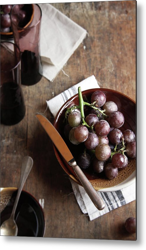 Spoon Metal Print featuring the photograph Grape by 200