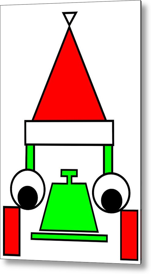 Happy Henry Wishes You A Merry Christmas Metal Print featuring the digital art Happy Henry wishes you a Merry Christmas by Asbjorn Lonvig
