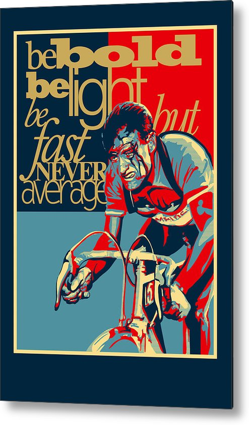 Vintage Tour De France Metal Print featuring the painting Hard as Nails vintage cycling poster by Sassan Filsoof