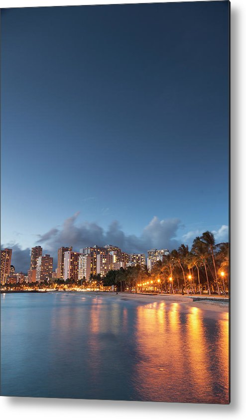 Honolulu Metal Print featuring the photograph Hawaii, Oahu, Honolulu by Michele Falzone