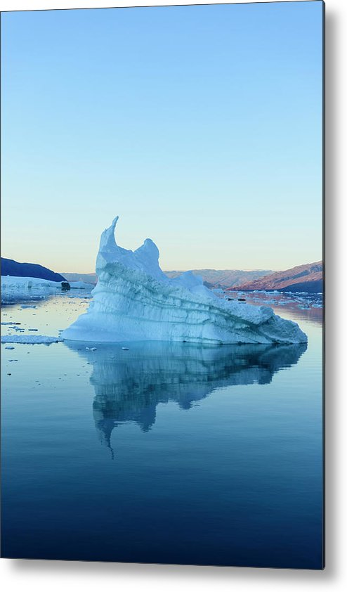 Scenics Metal Print featuring the photograph Iceberg In The Scoresby Sund by Berthold Trenkel