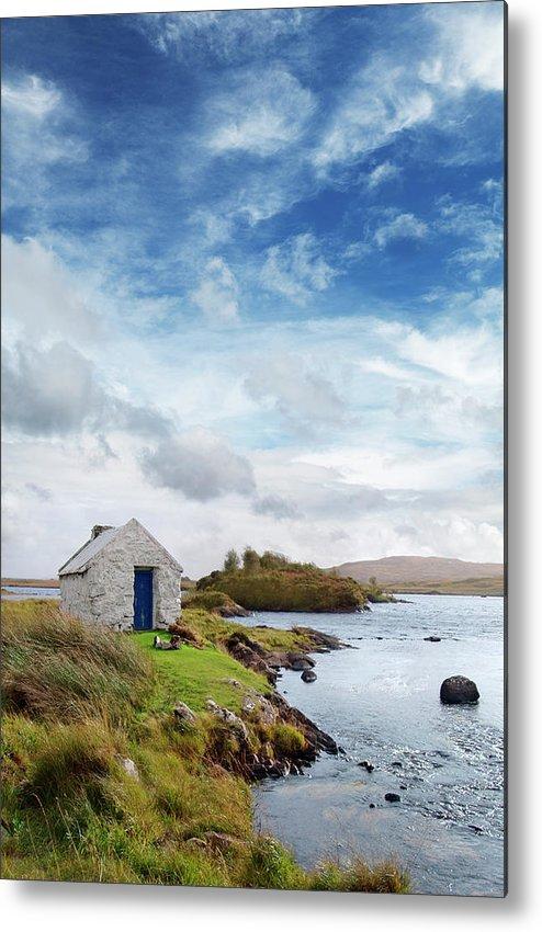 Water's Edge Metal Print featuring the photograph Irish Landscape In Connemara by Narvikk