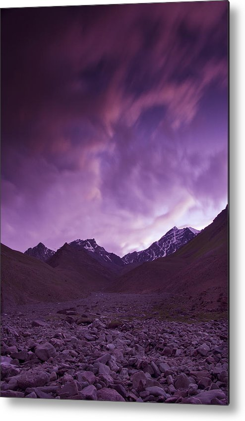 Mountains Metal Print featuring the photograph Kangri Twilight by Aaron Bedell