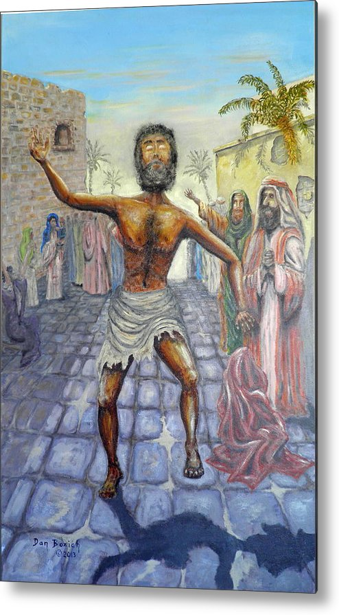 Biblical Metal Print featuring the painting Lord I want to See by Dan Bozich