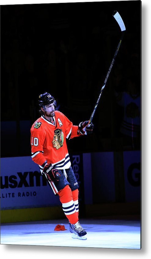 Playoffs Metal Print featuring the photograph Los Angeles Kings V Chicago Blackhawks by Jamie Squire