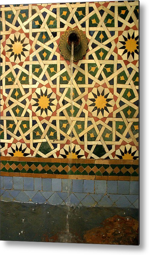 Morocco Metal Print featuring the photograph Moroccan Water Fountain by PIXELS XPOSED Ralph A Ledergerber Photography