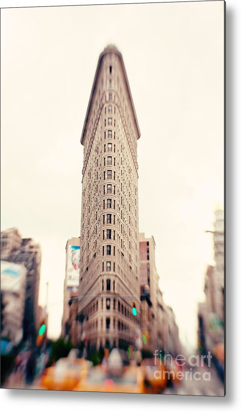 New York City Photo Metal Print featuring the photograph New York City Flatiron Building by Kim Fearheiley