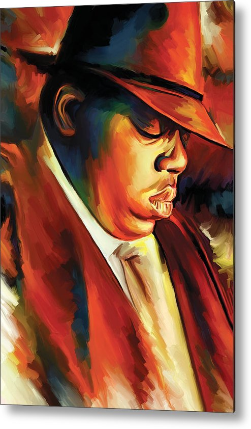 Notorious Big Paintings Metal Print featuring the painting Notorious Big - Biggie Smalls Artwork by Sheraz A