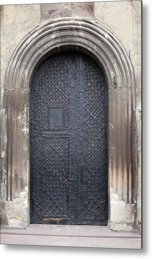 Gothic Style Metal Print featuring the photograph Old Door by Viktor gladkov